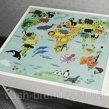 Знімне ігрове поле для столика-пісочниці KIDZ ZONE Карта світу.