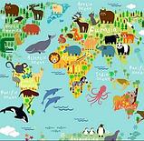 Съемное игровое поле для столика-песочницы KIDZ ZONE Карта мира. , фото 2