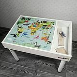 Знімне ігрове поле для столика-пісочниці KIDZ ZONE Карта світу., фото 3
