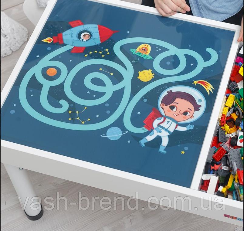 Знімне ігрове поле для столика-пісочниці KIDZ ZONE Космос