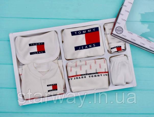 Детский набор одежды TJ (в наборе семь единиц) в коробке