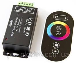 №61 RGB Контроллер 18А Радио - (черный сенсорный пульт) 6 кнопок 1009677