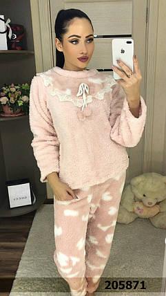 Женская красивая мягкая махровая пижама нежно розового цвета   размер М, L  , фото 2 9b0c392110c