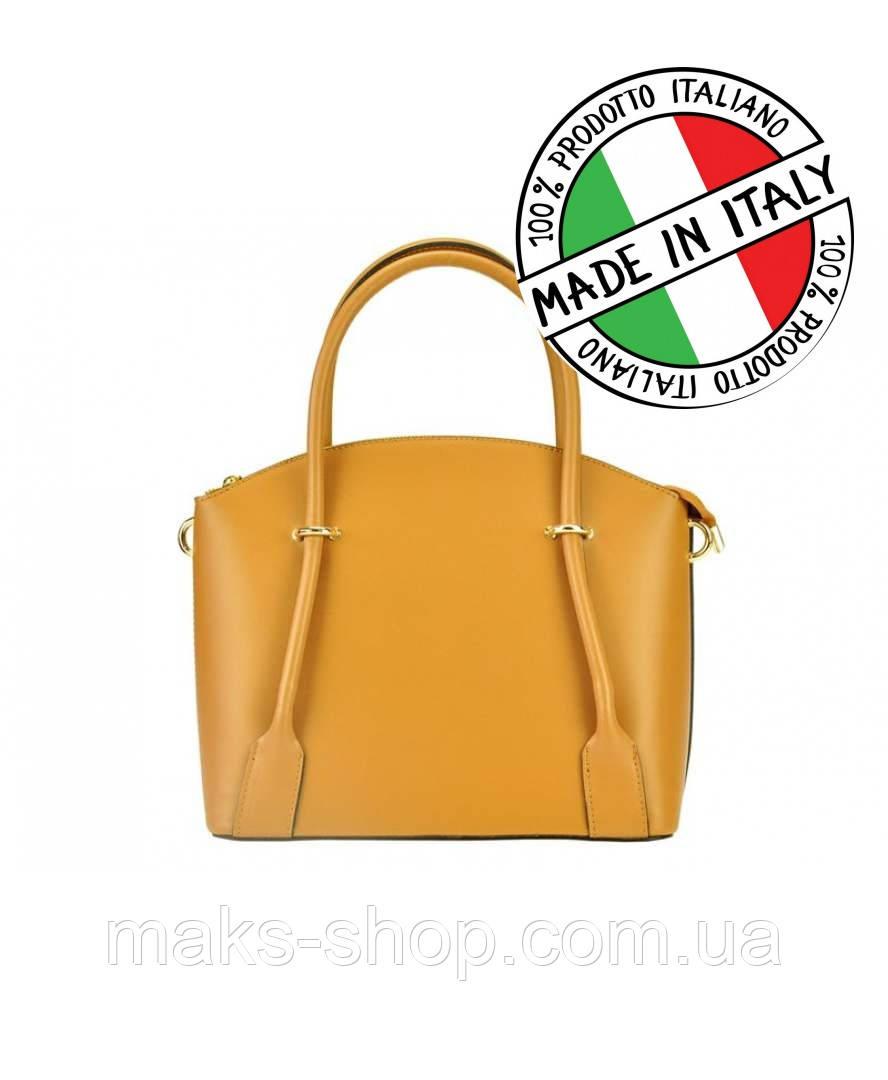 307e2d1718f9 Итальянская женская кожаная сумка Silvia 202 Кэмел - Maks Shop- надежный и  перспективный интернет магазин
