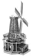 Конструктор 3D металлический Ветряная мельница Сборная модель
