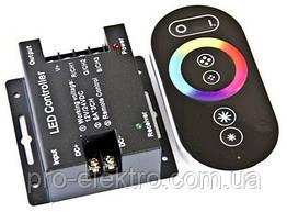 №61/1 RGB Контроллер 18А Радио - (черный сенсорный пульт) 6 кнопок 1009678