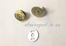 Кнопка магнитная наружная 16 мм Золото