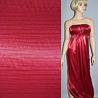 Атлас стрейч шамус жаккардовый вишневый ш.150 (10104.001)