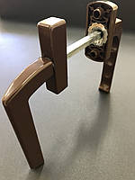 Гарнитур балконный (Украина) асимметричныйкоричневый (моноблок узкая ручка+обычная)