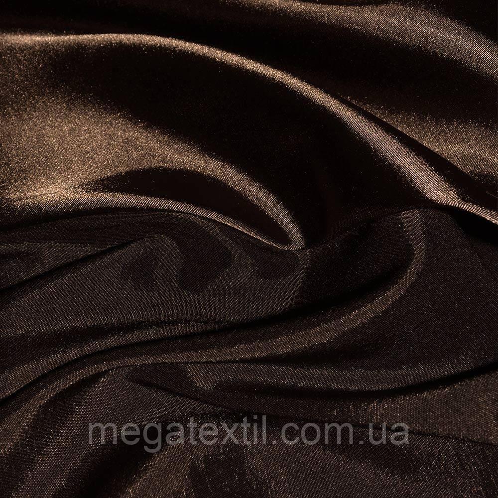 Атлас стрейч хамелеон темно-коричневый ш.150 (10117.049)