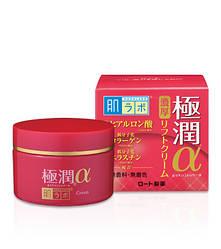 Антивіковий гіалуронова підтягуючий крем HADA LABO Gokujyun Lifting Alpha Cream 50g