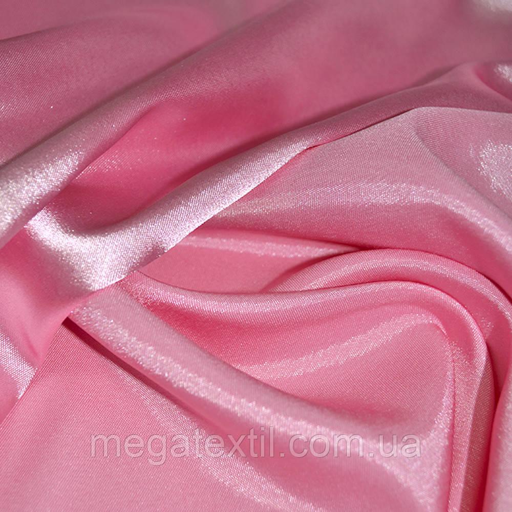 Стрейч атлас хамелеон розовый ш.150