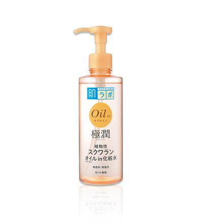 Зволожуючий лосьйон для обличчя з маслом сквалан Hada Labo Gokujyun Oil in Lotion 220ml