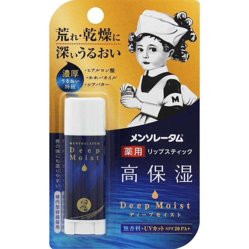 Гиалуроновый Бальзам для губ Mentholatum Deep Moist SPF20 PA+ 4.5g (без ароматизатора)