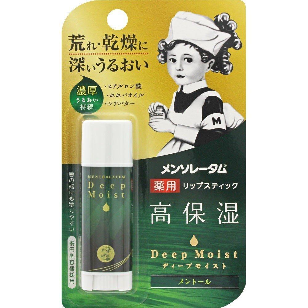 Гіалуроновий Бальзам для губ Mentholatum Deep Moist LipBalm Menthol 4.5 g