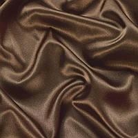 Стрейч-атлас шамус коричневый с перламутром ш.150