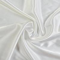 Стрейч атлас шамус белый с лимонным оттенком ш.150