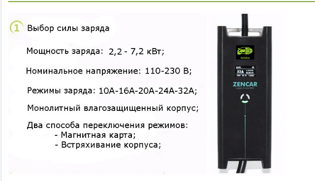 Зарядное устройство Zencar 32A