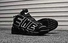 """Кроссовки Nike Air More Uptempo Supreme """"Black"""" (Черные), фото 2"""