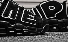 """Кроссовки Nike Air More Uptempo Supreme """"Black"""" (Черные), фото 3"""
