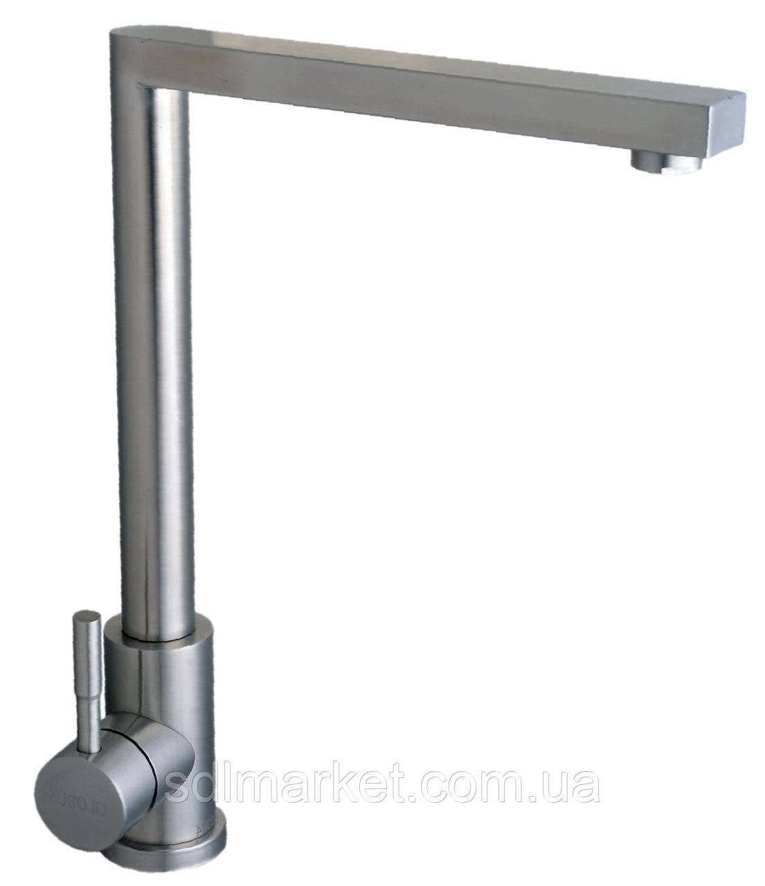 Смеситель кухонный Globus Lux SUS-112 из нержавеющей стали