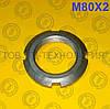 Гайка кругла шлицевая по ГОСТ 11871-88, DIN 981. М80х2
