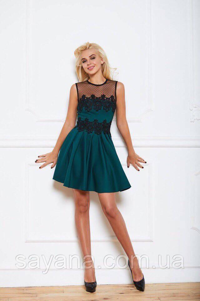 547f17b1912b72 Купить Женское платье в складку с кружевом в расцветках. ТС-1-1218 ...