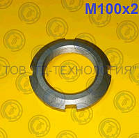 Гайка кругла шлицевая по ГОСТ 11871-88, DIN 981. М100х2, фото 1