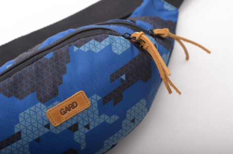 Бананка GARD WAIST BAG  blue triangle print