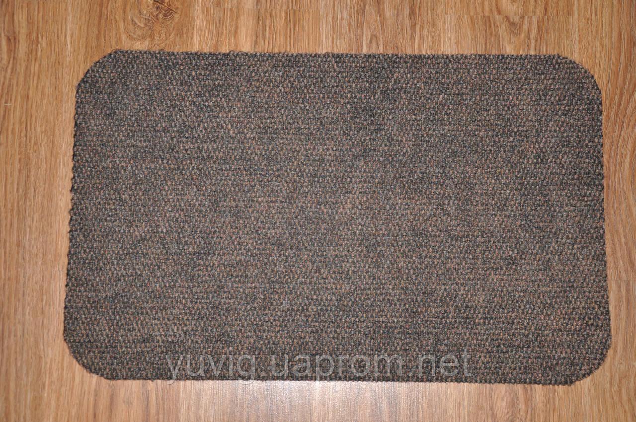 Коврик придверный Фавор 80х50см. коричневый