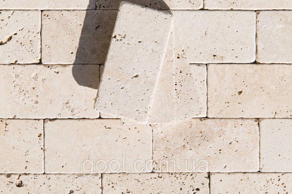 Травертин Light Tumbler плитка каменная размер 203х406х12 мм.