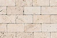 Травертин Light Tumbler плитка каменная размер 100х300х10 мм.
