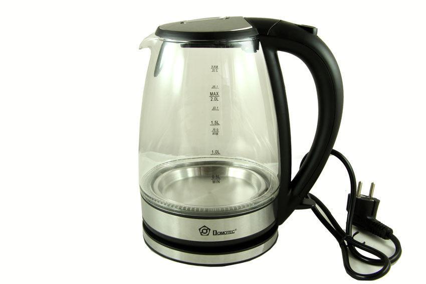 Дисковый электрический стеклянный чайник Domotec MS 8110