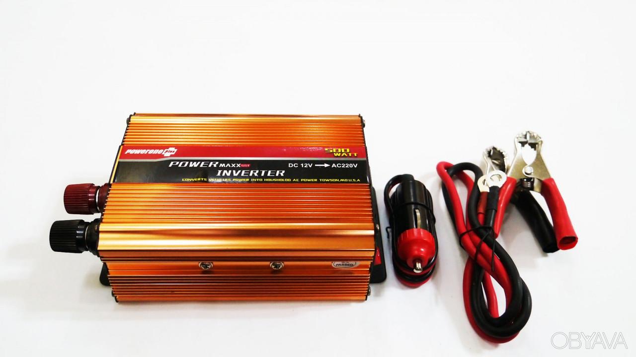 Преобразователь напряжения (инвертор)  12V в ~220V 500W