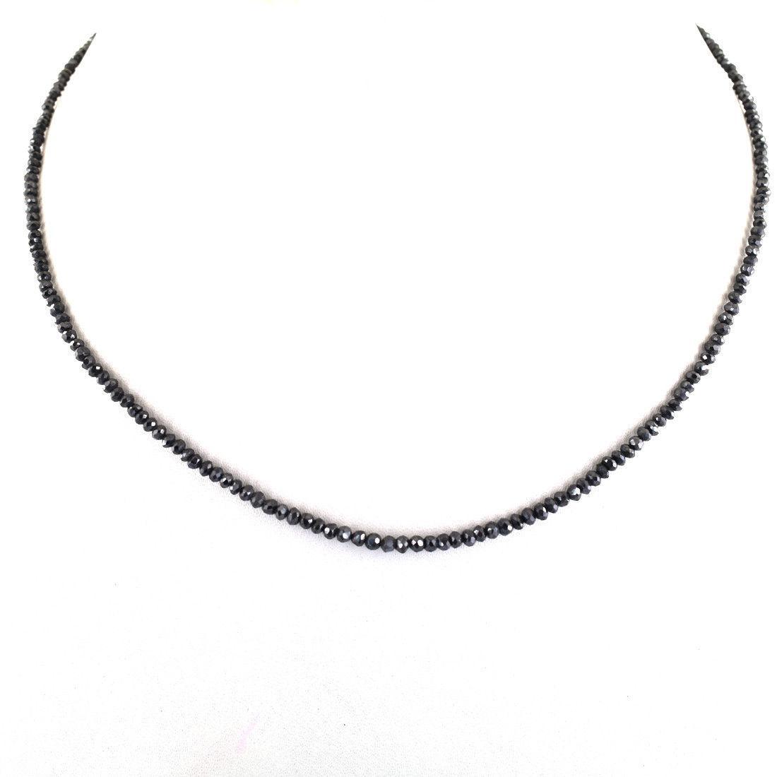 Колье , леска  2-2.5 mm черный бриллиант . Длина 47 см .Сертификат