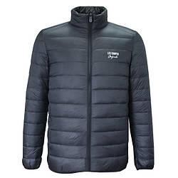 Куртка мужская пуховик Lee Cooper Originals Xlite Down Jacket Men's гусиный пух перо ультра легкая черная