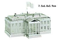 Конструктор 3D металлический Белый дом Сборная модель