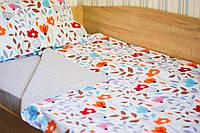 """Детский полуторный комплект постельного белья """"Цветы"""", фото 1"""