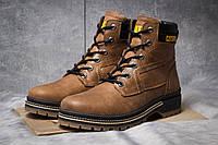Зимние мужские ботинки 30544, CAT Caterpilar Anti-Glide, рыжие ( нет в наличии  )
