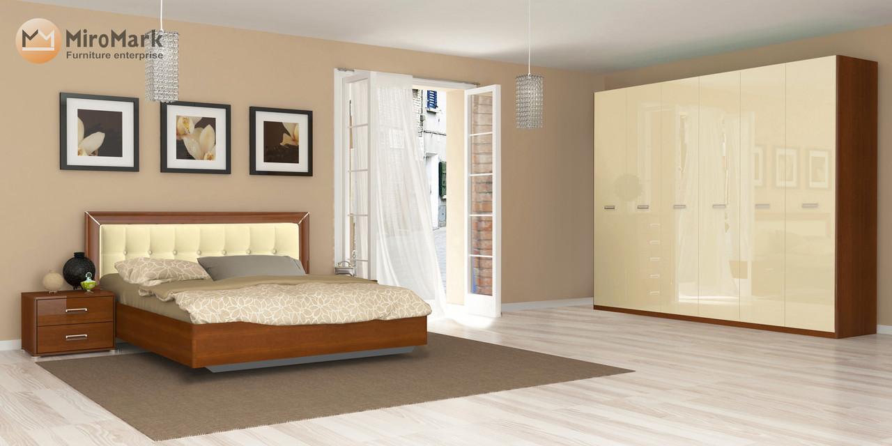 Спальня Белла (ваниль глянец /вишня бюзум)