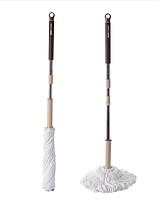 Швабра Mop,веревочная с отжимом (коричнево-бежевая)
