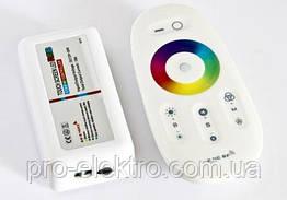№75 RGB Контроллер 18А Радио - (белый сенсорный пульт) 8 кнопок 1009718
