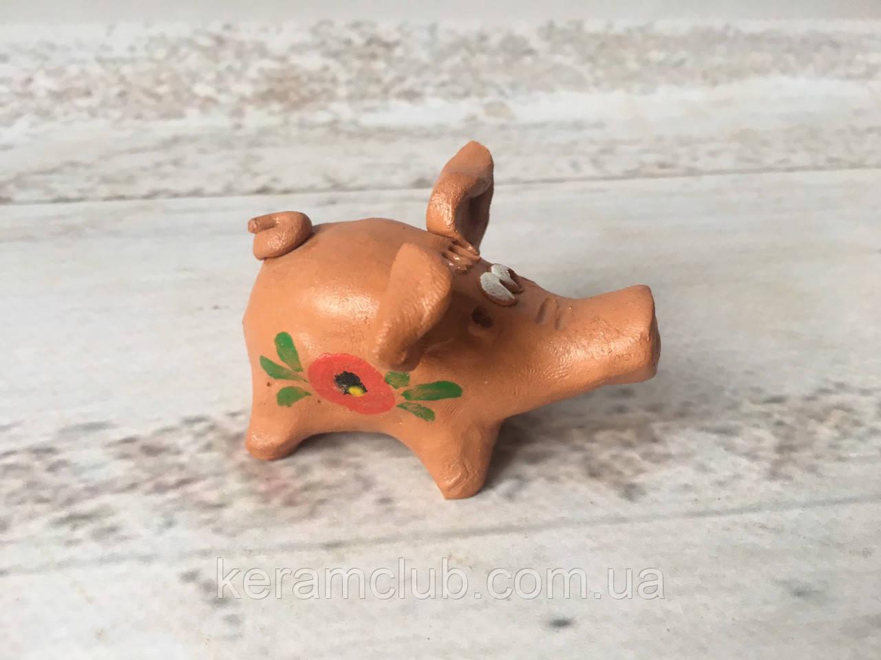 Глиняная свистулька свинка