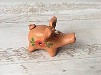 Глиняная свистулька свинка, фото 1