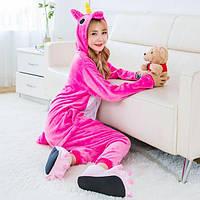 Пижама кигуруми малиновый единорог , фото 1