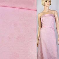 Батист-жаккард рожевий в смужки, квіти ш.150 (10261.001)