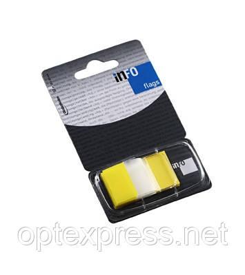 Закладки клейкие в диспенсере  желтые 7728-50