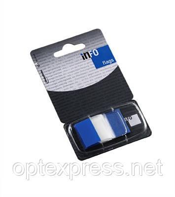 Закладки клейкие в диспенсере синие 7728-81