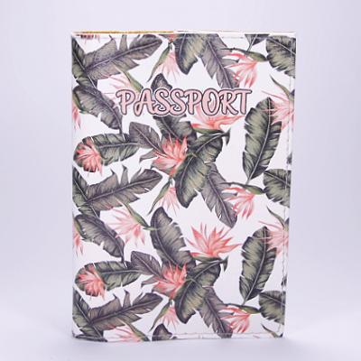 """Обложка на паспорт, """"Пальмы"""", экокожа"""