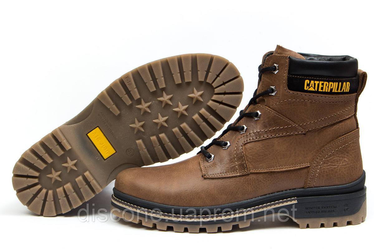 Зимние ботинки на меху ► CAT Caterpilar Anti-Glide,  рыжие (Код: 30544) ►(нет на складе) П Р О Д А Н О!
